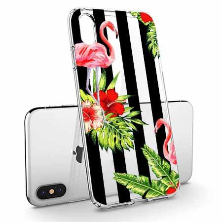 Etui na telefon Apple iPhone X - Opowieści flamingów.