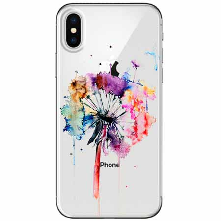 Etui na telefon Apple iPhone X -  Watercolor dmuchawiec.
