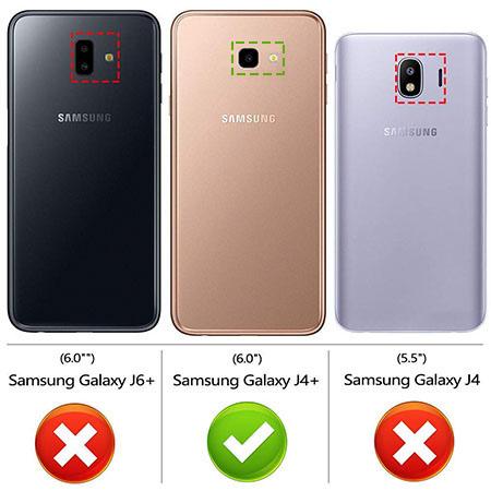 Etui na Samsung Galaxy J4 Plus - Złote koniczynki.