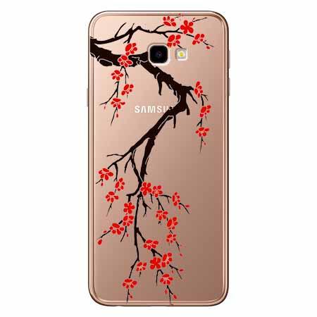 Etui na Samsung Galaxy J4 Plus - Krzew kwitnącej wiśni.