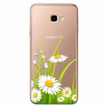 Etui na Samsung Galaxy J4 Plus - Polne stokrotki.