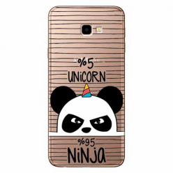 Etui na Samsung Galaxy J4 Plus - Ninja Unicorn - Jednorożec.