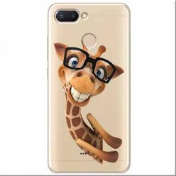 Etui na Xiaomi Redmi 6 - Wesoła żyrafa w okularach.