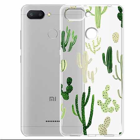 Etui na Xiaomi Redmi 6 - Kaktusowy ogród.