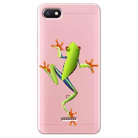 Etui na Xiaomi Redmi 6A - Zielona żabka.