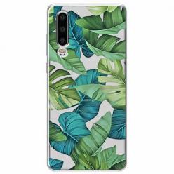 Etui na Huawei P30 - Egzotyczne liście monstery