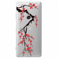 Etui na Sony Xperia XZ3 - Krzew kwitnącej wiśni.