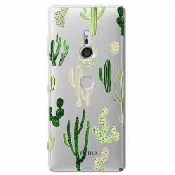 Etui na Sony Xperia XZ3 - Kaktusowy ogród.