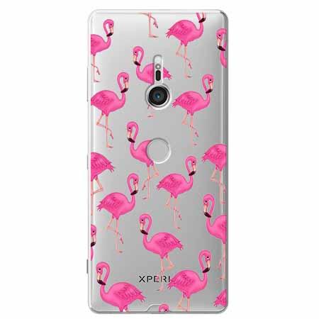 Etui na Sony Xperia XZ3 - Różowe flamingi.