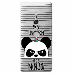 Etui na Sony Xperia XZ3 - Ninja Unicorn - Jednorożec.