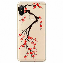 Etui na Xiaomi Mi A2 Lite - Krzew kwitnącej wiśni.
