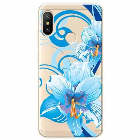 Etui na Xiaomi Mi A2 Lite - Niebieski kwiat północy.