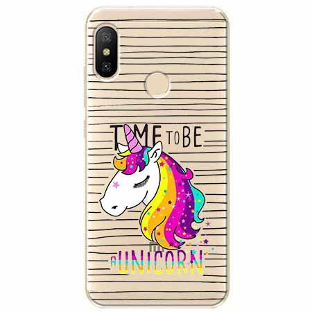Etui na Xiaomi Mi A2 Lite - Time to be unicorn - Jednorożec.