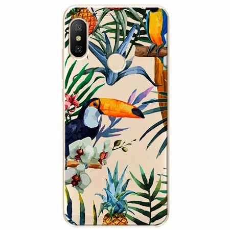 Etui na Xiaomi Mi A2 Lite - Egzotyczne tukany.