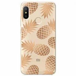 Etui na Xiaomi Mi A2 Lite - Złote ananasy.