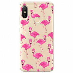 Etui na Xiaomi Mi A2 Lite - Różowe flamingi.