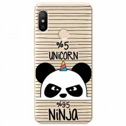 Etui na Xiaomi Mi A2 Lite - Ninja Unicorn - Jednorożec.
