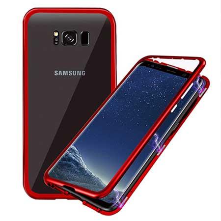 Etui metalowe Magneto Samsung Galaxy S8 - Czerwony