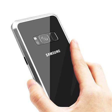 Etui metalowe Magneto Samsung Galaxy S8 Plus - Srebrny