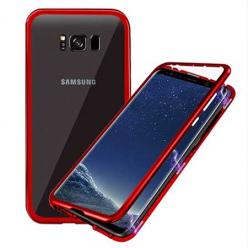 Etui metalowe Magneto Samsung Galaxy S8 Plus - Czerwony