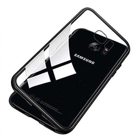 Etui metalowe Magneto Samsung Galaxy S7 - Czarny