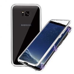 Etui metalowe Magneto Samsung Galaxy S7 Edge - Srebrny
