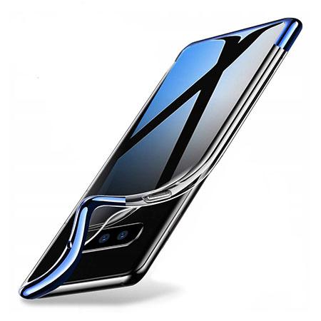 Etui na Samsung Galaxy S10 - silikonowe platynowane SLIM - Niebieski.