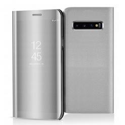 Etui na Samsung Galaxy S10 - Flip Clear View z klapką - Srebrny.