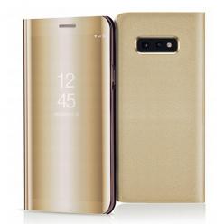 Etui na Samsung Galaxy S10e - Flip Clear View z klapką - Złoty.