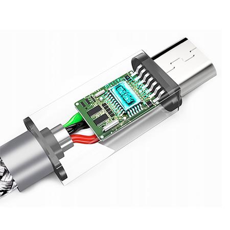 Kabel USB Typ-C do szybkiego ładowania QUICK CHARGE 3.0 - Czarny.