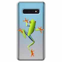 Etui na Samsung Galaxy S10 - Zielona żabka.