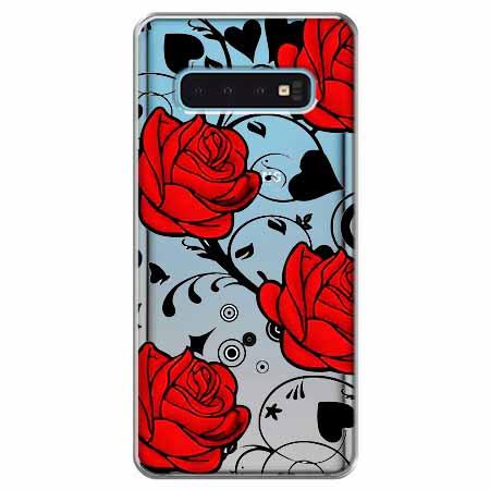 Etui na Samsung Galaxy S10 - Czerwone róże.