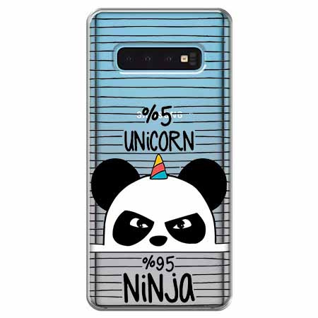 Etui na Samsung Galaxy S10 - Ninja Unicorn - Jednorożec.