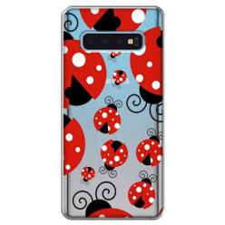 Etui na Samsung Galaxy S10 Plus - Czerwone wesołe biedronki.