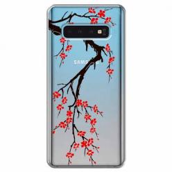 Etui na Samsung Galaxy S10 Plus - Krzew kwitnącej wiśni.