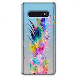 Etui na Samsung Galaxy S10 Plus - Watercolor ananasowa eksplozja.