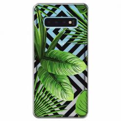 Etui na Samsung Galaxy S10 Plus - Egzotyczne liście bananowca.