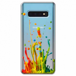 Etui na Samsung Galaxy S10 Plus - Kolorowy splash.