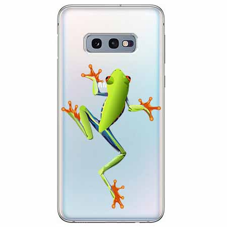 Etui na Samsung Galaxy S10e - Zielona żabka.