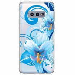 Etui na Samsung Galaxy S10e - Niebieski kwiat północy.