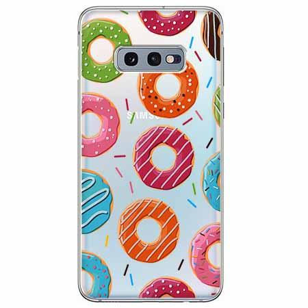 Etui na Samsung Galaxy S10e - Lukrowane pączki.