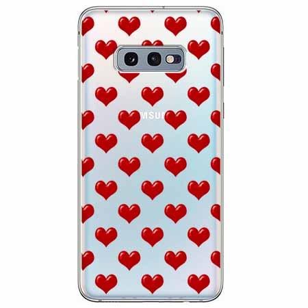Etui na Samsung Galaxy S10e - Czerwone serduszka.