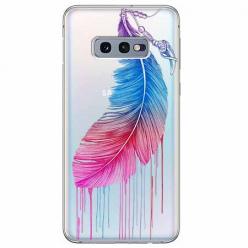 Etui na Samsung Galaxy S10e - Watercolor piórko.