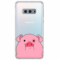 Etui na Samsung Galaxy S10e - Słodka różowa świnka.