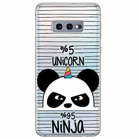 Etui na Samsung Galaxy S10e - Ninja Unicorn - Jednorożec.