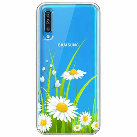 Etui na Samsung Galaxy A50 - Polne stokrotki.