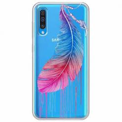 Etui na Samsung Galaxy A50 - Watercolor piórko.