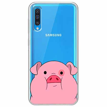 Etui na Samsung Galaxy A50 - Słodka różowa świnka.