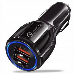 Szybka ładowarka samochodowa Quick Charge 3.0 - Czarna