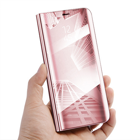 Etui na Samsung Galaxy A50 - Flip Clear View z klapką - Różowy.